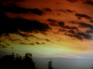 台風の夕焼け