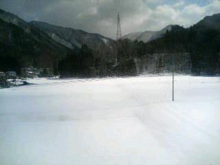 最初で最後の雪景色