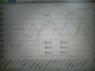 内閣支持率の推移(2004〜2007)