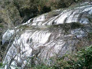 上からみた滝