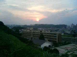 聖蹟の夕日