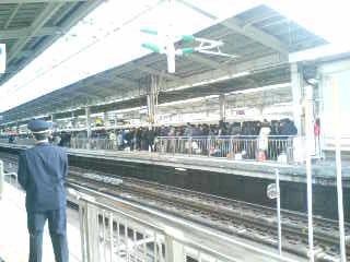 帰省ラッシュの新大阪駅