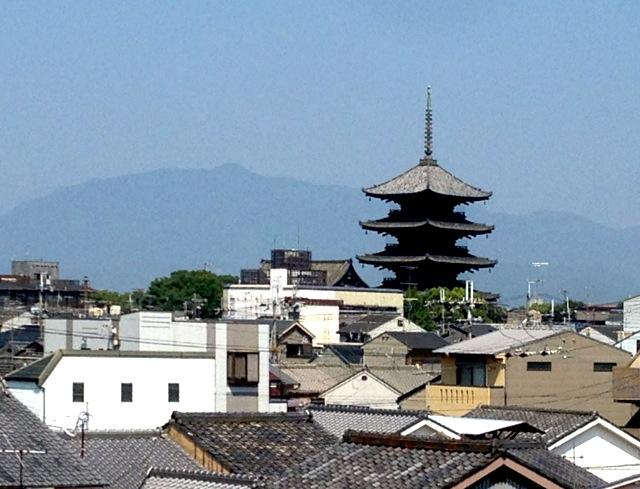 東寺と愛宕山