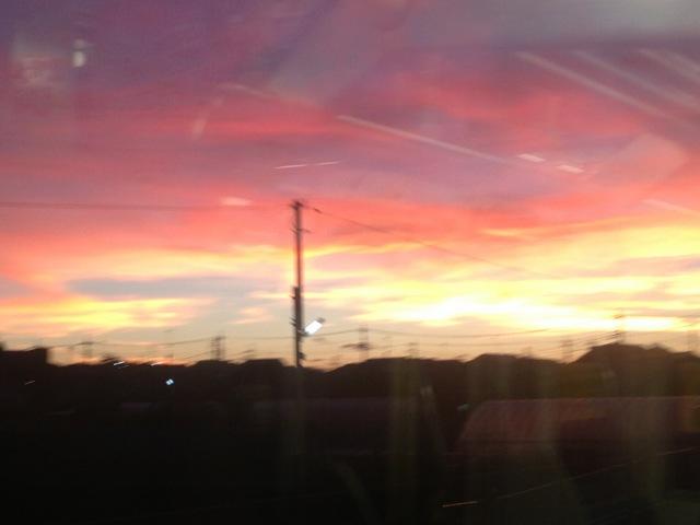 凄い色の夕焼け