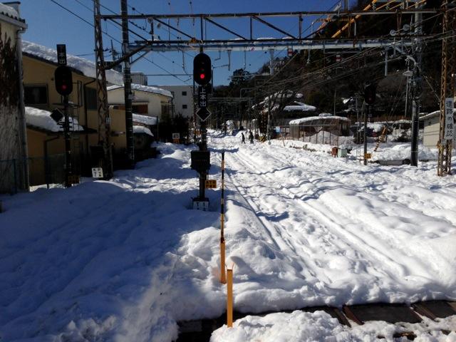 大雪の青梅線